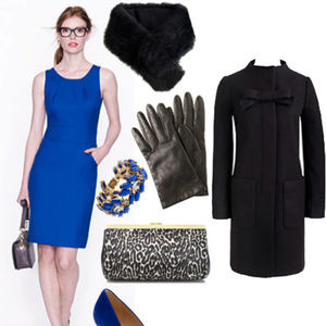 NWOT J.Crew wool blue dress